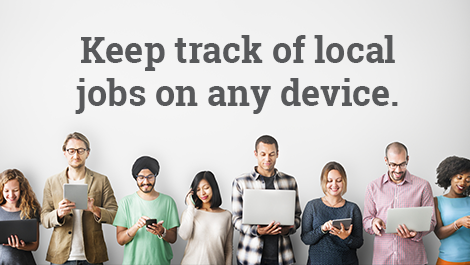 Keep track of local jobs on any device